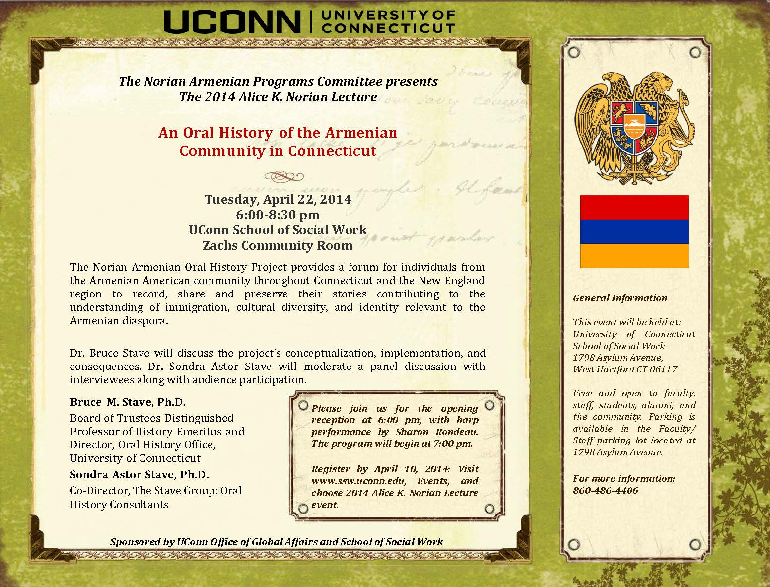 2014 NORIAN LECTURE FLYER
